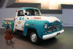 薛佛列在曼谷汽车展示会的卡车展示2011年 库存图片