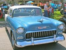1955年薛佛列小轿车 免版税库存图片