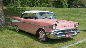 1957年薛佛列汽车Bel Air 免版税图库摄影