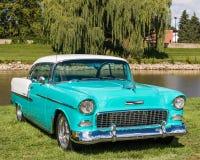 1955年薛佛列汽车Bel Air 库存照片
