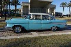 1957年薛佛列汽车Bel Air 免版税库存照片