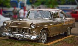 薛佛列贝莱尔体育小轿车1955年 图库摄影