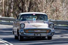 1957年薛佛列贝莱尔体育轿车 免版税图库摄影