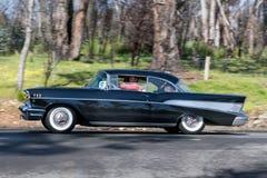 1957年薛佛列贝莱尔小轿车 免版税库存图片