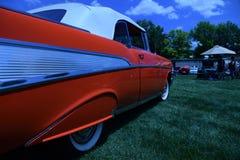 1957年薛佛列贝莱尔敞篷车 免版税库存照片