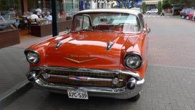 薛佛列贝莱尔4门轿车在1957年制造的 免版税库存照片