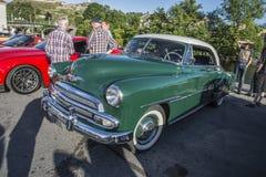 1956年薛佛列贝莱尔Hardtop小轿车 免版税库存图片