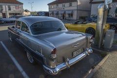 1955年薛佛列贝莱尔Hardtop小轿车 库存图片