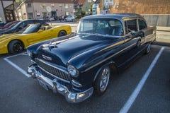 1955年薛佛列贝莱尔Hardtop小轿车 免版税图库摄影