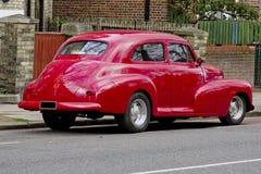 薛佛列Stylemaster在伦敦英国街道上的镇轿车1948年  免版税库存照片