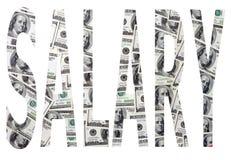 薪金作为标志 免版税库存图片