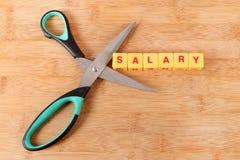 薪金裁减 库存图片