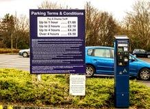 薪水和显示停车场票机器, 库存照片