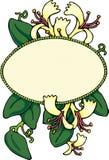 藏书标签忍冬属植物 皇族释放例证