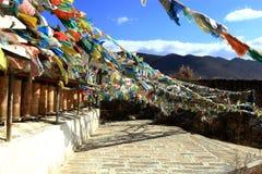 藏传佛教寺庙, Songzanlin喇嘛寺院,云南的中国 免版税库存照片