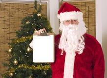 藏品列表您圣诞老人的文本 免版税库存照片