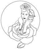 藏品化妆水妇女 免版税库存照片