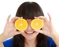 藏品柠檬妇女 库存图片
