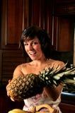 藏品菠萝妇女 免版税图库摄影