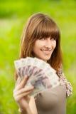 藏品货币妇女年轻人 库存照片