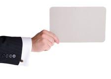 藏品carboard看板卡 免版税库存图片