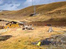 藏族农村房子在四川 库存图片