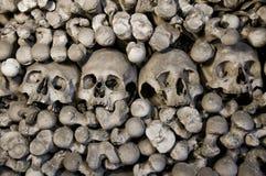 藏有古代遗骨的洞穴 库存照片