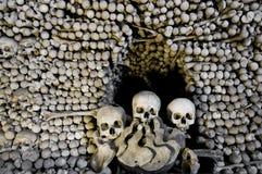 藏有古代遗骨的洞穴 库存图片