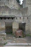 贮藏船舶,赫库兰尼姆考古学站点,褶皱藻属,意大利 库存图片
