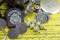 藏语的人工制品 库存照片