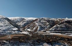 藏语的住宅 免版税库存图片