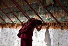 藏语的喇嘛 库存照片