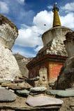 藏语5 ladakh的stupas 库存照片