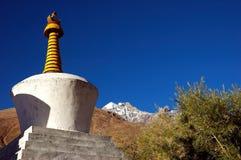 藏语ladakh的stupas 免版税库存图片