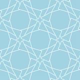 藏青色几何装饰品 无缝的模式 库存照片