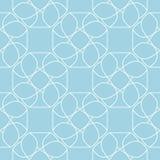 藏青色和白色几何装饰品 无缝的模式 库存照片