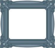 藏青色巴落克式样框架。 向量例证
