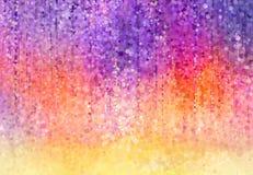 紫藤开花水彩绘画 向量例证