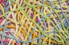 藤条五颜六色的新的艺术性的网眼图案  免版税库存照片