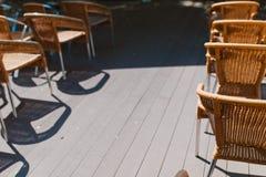 藤条椅子 免版税库存图片