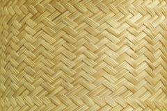 藤条纹理,细节手工造竹子编织的纹理背景 被编织的模式 免版税库存照片