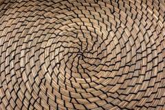 藤条纹理,细节手工造编织的竹子  免版税库存照片