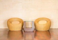 藤椅装饰豪华现代 免版税图库摄影