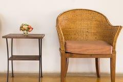 藤椅 免版税库存图片
