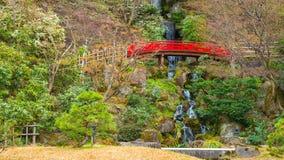 藤田纪念日本庭院在弘前市,日本 免版税库存照片