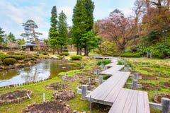 藤田纪念日本庭院在弘前市,日本 免版税库存图片