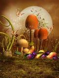 蘑菇、李子和梨 图库摄影