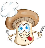 蘑菇厨师动画片 库存照片