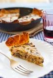 蘑菇和火鸡乳蛋饼 免版税图库摄影