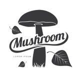 蘑菇商标模板 免版税库存图片